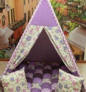 Вигвам-палатка для детей, коврик бомбон