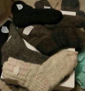 Носки и варежки из пуха