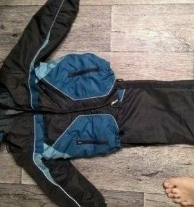 Ветровой костюм с флисовой поддевой рост 110