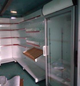 стеллаж с уголком, холодильник