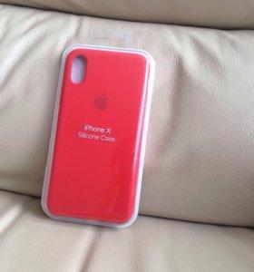Чехол на iPhone X ( красный )