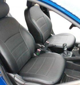 Авточехлы на сидения для Hyundai Solaris и Kia Rio
