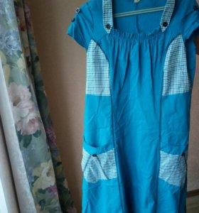 Домашнее платье халат