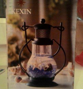 Новая свеча, подсвечник, фонарик
