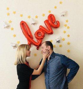 Воздушные шарики Love