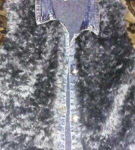 Шапка, жилетка меховая