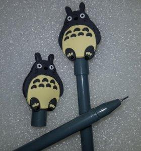 Новая черная гелиевая ручка с Тоторо