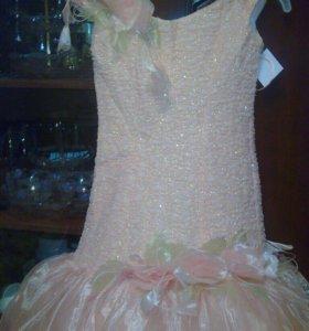 Платье-русалочка ,кораллового цвета