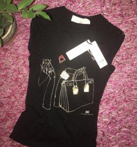Elisabetta Franchi,Майка-футболка, оригинал,Ита