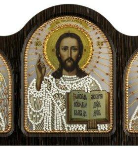 Триптих настольный серебро (Ангел Хранитель, Спаси