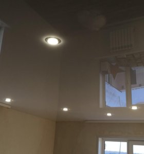 Натяжные потолки - отделочные работы