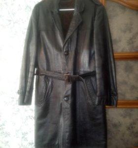Пальто мужское натуральная кожа.