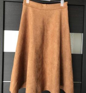 Крутая замшевая юбка. Доставка бесплатно!!!