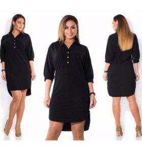 Платье-рубашка 48-50-52р