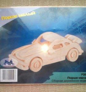 Деревянный конструктор модель Porsche
