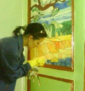 Художественная роспись стен, барельеф, декор