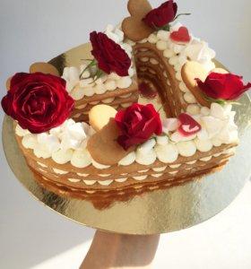Торт - Валентинка