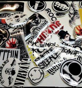 Наклейки (рок-группы и исполнители)