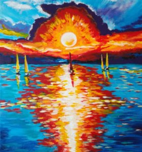 Живопись. Картина «Шаги». Холст 50×35' акрил