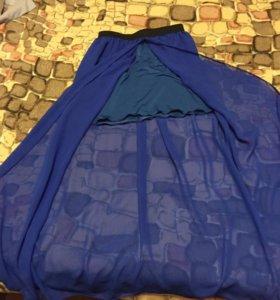 Шифоновая юбка в пол