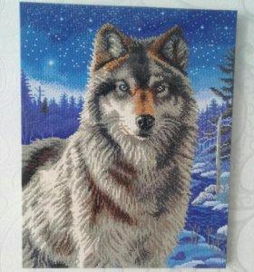 Шикарный волк из страз