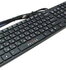 Клавиатура oklick 555s black и мышка в подарок