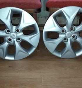 Оригинальные колпаки Hyundai Solaris новые