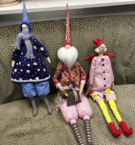 Куклы текстильные новогодние