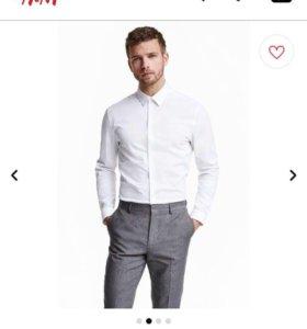 Мужская рубашка приталенная (slim fit)