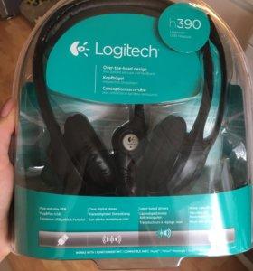 Наушники новые Logitech h390