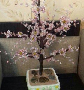 Дерево из бисера САКУРА 45см украсит ваш интерьер