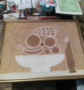 Картина из крошки янтаря .