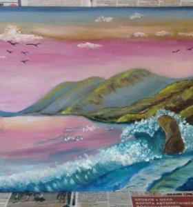 """Картина маслом """" Море """""""