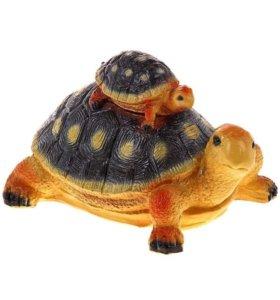 """Cадовая фигура """"Черепаха-мама с черепашонком"""""""