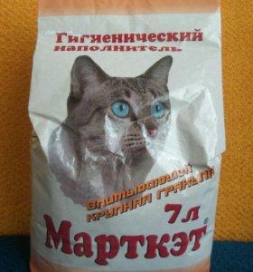 Наполнитель для кошек-крупные гранулы.