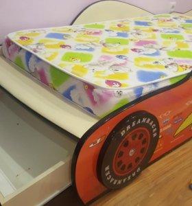 Кровать ,шкаф тачки