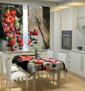 Фотошторы для кухни (150х160)*2