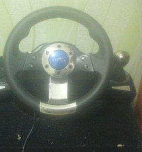 Гоночный руль, для игры в компьютерные игры
