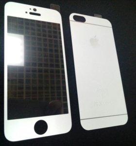 Стекло для IPhone 5 3D Белый