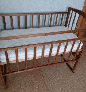 Детская кроватка+матрас пружинный+ПОДАРОК