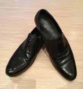 Туфли кожаные мужские чёрные обувь