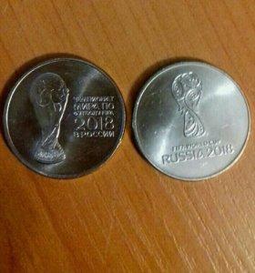 """Монета ,,25"""" рублей: футбол 2018, Сочи олимпиада"""