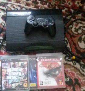 PlayStation 3 Super slim 500gb + 4 игры