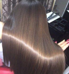 Биксипластия волос, Кератин, ботокс