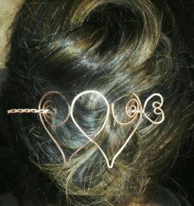 Заколка для волос ручной работы