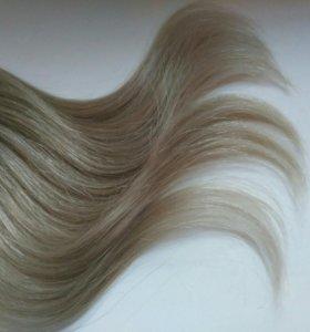 Натуральные волосы на капсулах 55 см
