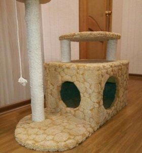 Дом для кошки с когтеточкой