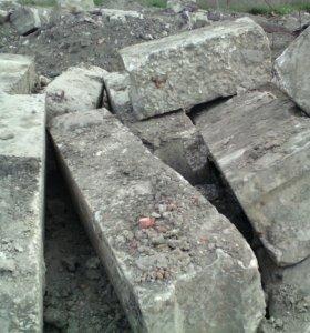 Блоки фундаментные 4 , 5 б/у