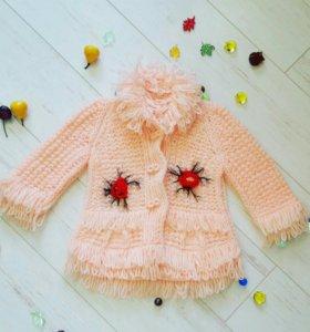 Пальто вязаное 1.5-2года