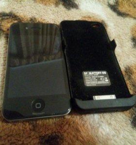 iPhone 4S и DF iBATTERY-08